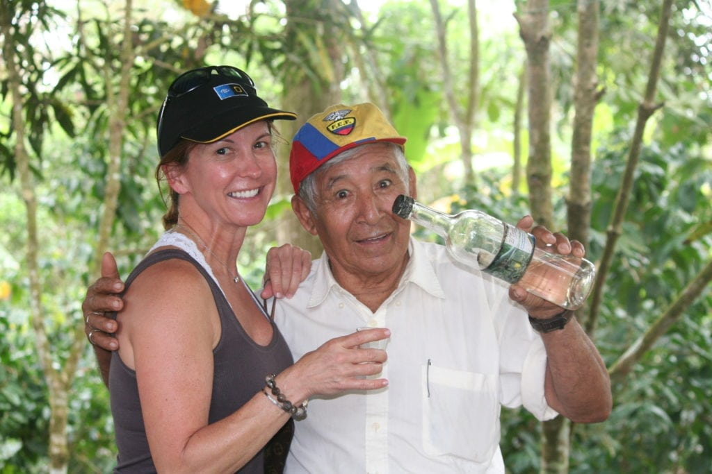 Galapagos moonshiner a key ingredient in our Sangria recipe!