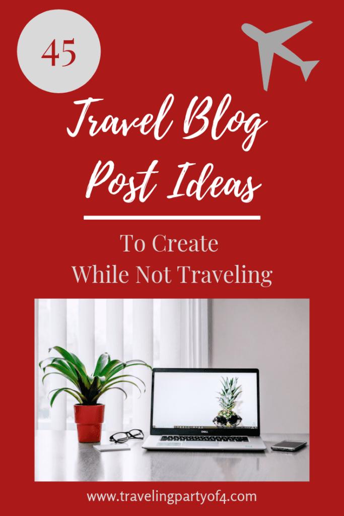 Travel Blog Post Ideas Pinterest Image
